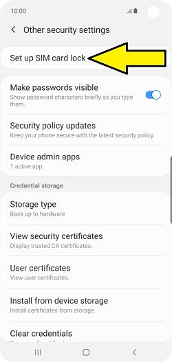 Change, Add, or Remove SIM Card Lock on Samsung