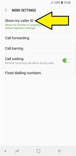caller ID on Samsung