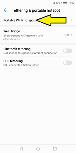 set up hotspot on Huawei