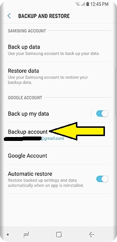 backup your data on Samsung